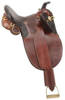 Australian Outrider Stock Saddle with Horn Brown 1