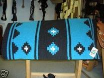 Mayatex Apache Show Saddle Blanket Pad Black Turquoise Horse