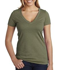 Next Level Apparel 6640 CVC Deep V-Neck Tee - Military Green