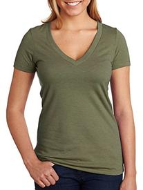 Next Level Ladies' CVC Deep V-Neck Tee