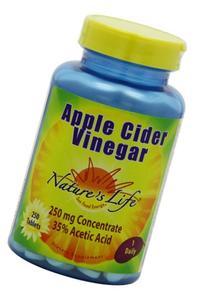 Nature's Life Apple Cider Vinegar, 250 Mg, 35 % Acetic Acid