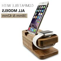 Apple Watch Stand, Hapurs iWatch Bamboo Wood Charging Dock