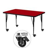 Aprender Mobile 30''W x 48''L Rectangular Activity Table Red