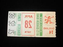 April 28, 1974 Oakland Athletics @ Baltimore Orioles Ticket