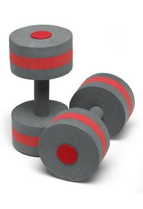 Speedo Aqua Fitness Swim Training Barbells, Charcoal/Red,