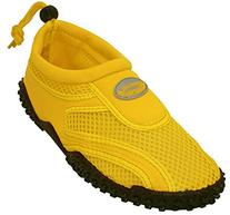 Aqua Socks womens Water Shoe, Neon Yellow, 5