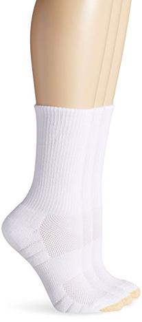 Gold Toe Women's Aquafx Zone Athletic Crew Sock, White, 9-11