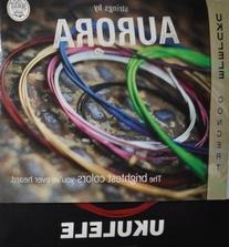 Aquila Colored Concert Ukulele string by Aurora - Red