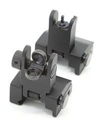 Zengi AR15 Front and Rear Flip up Iron Sights, Back-up Iron