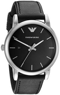 Emporio Armani Men's AR1692 Dress Black Leather Watch