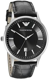 Emporio Armani Men's AR2411 Dress Black Leather Watch