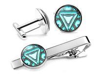Arc Reactor Tie Clip, Iron Man Jewelry, Iron Man Cufflinks,