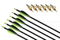 """31"""" Archery Fiberglass Arrows Target Practice Fiberglass"""