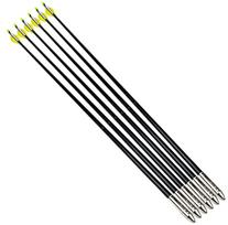 NuoYa001 Archery Fletched Fiberglass Nock Arrows , Large