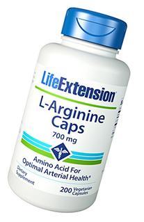Life Extension Arginine Capsules, 700 mg, 200 Count