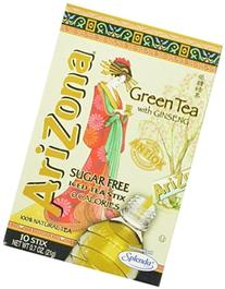 AriZona Green Tea with Ginseng Sugar Free Iced Tea Stix, 0.7