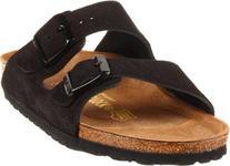 Birkenstock Unisex Arizona Soft Footbed Sandal,Black Suede,