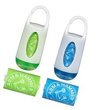 Munchkin Arm and Hammer Diaper Bag Dispenser, Green/Blue, 2