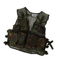 Kids Army Combat Multi-Pocket Adjustable Camouflage Vest