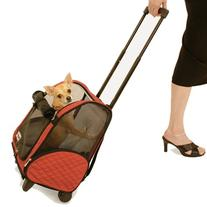 Roll Around Pet Carrier - Large/Red