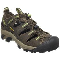 KEEN Women's Arroyo II Hiking Sandal,Chocolate Chip/Sap Green,5 M US