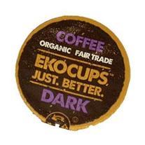 EKOCUPS Artisan Dark Coffee Single Serve Cups For K cups