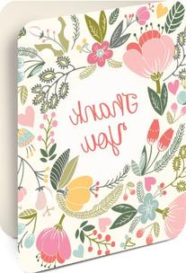 Studio Oh! Artisan Thank You Notecards, Floral, Box of 8