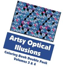 Artsy Optical Illusions Coloring Book Double Pack