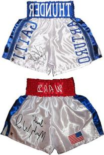 Arturo Gatti & Micky Ward Signed Trunks - Autographed Boxing