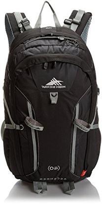 High Sierra Ascender 40 Internal Frame Pack, Black/Black/