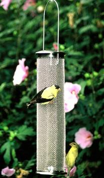 Aspects Nyjer Seed Mesh Wire Finch Bird Feeder, Brushed