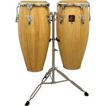 "LP Aspire 10"" & 11"" Wood Conga Set with Stand Natural"