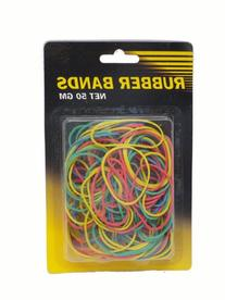Assorted Colored 50ct Rubber Band Pack