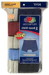 Fruit of the Loom Boys' 5 Pack Assorted Boxer Brief,
