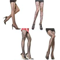 Angelina Assorted-Pack, Patterned Fishnet Pantyhose, 4