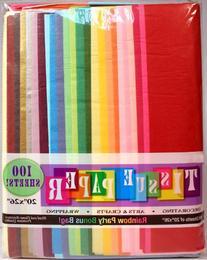 """Creative Hobbies Rainbow Color Tissue Paper Bonus Pack, 20"""""""