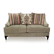Furniture of America Atene Premium Fabric Loveseat - Ivory