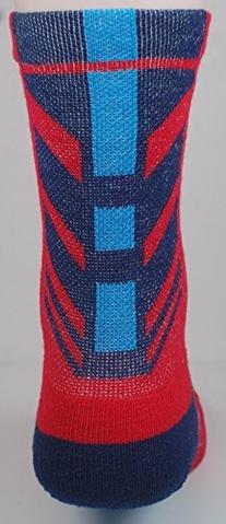 NEW! 2 Pair Sports Farm Athletic Socks - Navy Light Blue Red