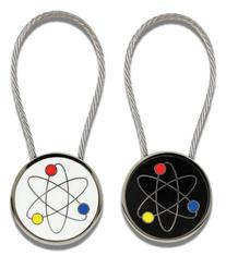 ACME STUDIO ATOMIC KEY RING BY ADRIAN OLABUENAGA