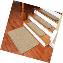 Dean Attachable Non-Skid Sisal Carpet Stair Treads - Desert