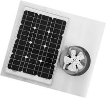 Amtrak Solar Attic Fan, 35 Watt Solar Panel, High Efficiency