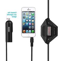 3.5mm Audio FM Transmitter + USB Car Charger for iPhone 5C/