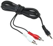 6ft Audio Y Cable Splitter 1 Mini Plug/2- Rca Plugs Rohs