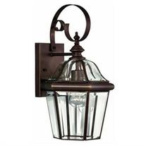 Augusta Outdoor Wall Lantern in Copper Bronze