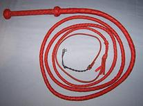 Ausse Redhide Style BULLWHIP 10 ft. 4 Plait Real Cowhide