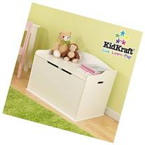 KidKraft Austin Wooden Toy Box - White