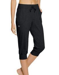Champion Women's Jersey Banded Knee Pant, Black, Medium