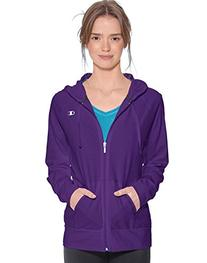Champion Women`s Authentic Jersey Jacket,J7418,S,Electric