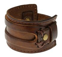 Authentic Regetta Jewelry Wide Leather Casual Mens Brown
