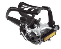Raleigh AVR210 Pedals Toeclip Strap Combo - Black